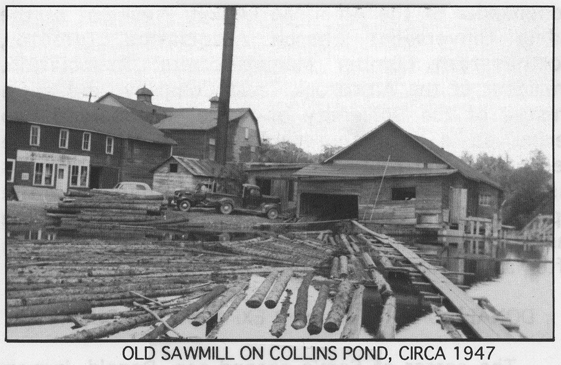 Old sawmill on collins pond photo